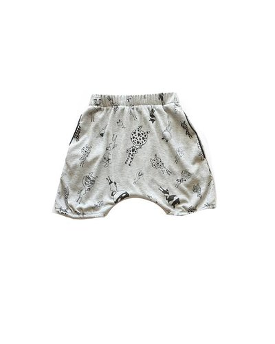 Freddy Bib Allover Shorts Grey