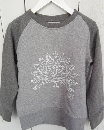 Grey LIMITED EDITION Peacock Sweater Kids