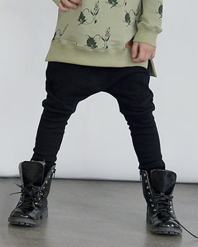 Zezuzulla Ribbing Trousers Black