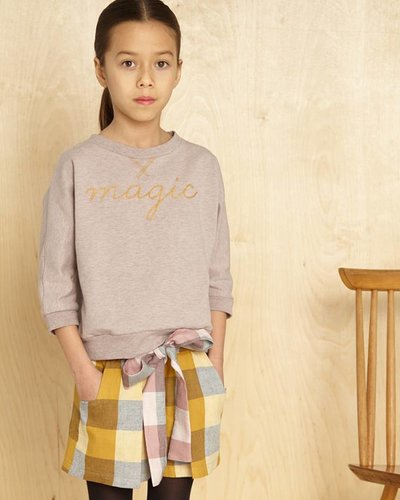 Kids On The Moon Plaid Shorts