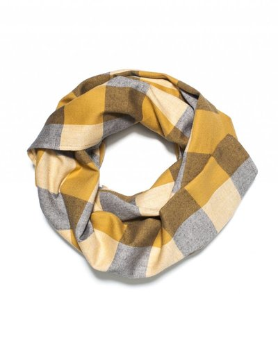 Kids On The Moon Plaid Scarf - Saffron