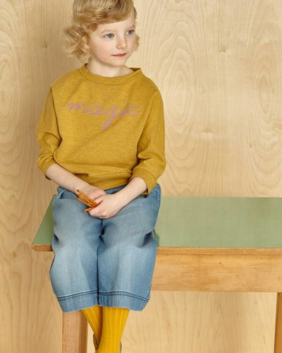 Kids On The Moon Short Sweater - Saffron Marl
