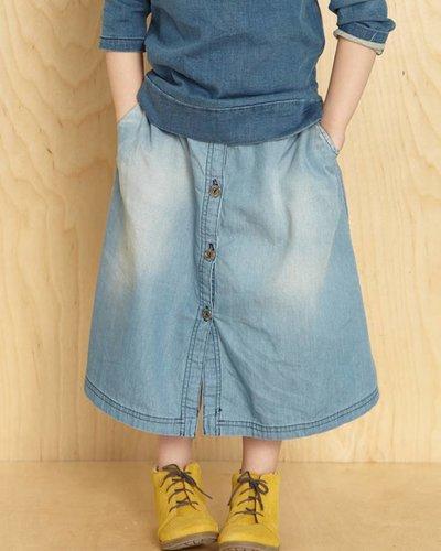 Kids On The Moon Denim Skirt