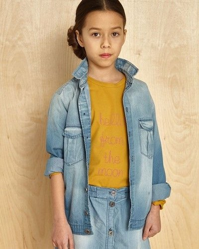 Kids On The Moon Denim Shirt
