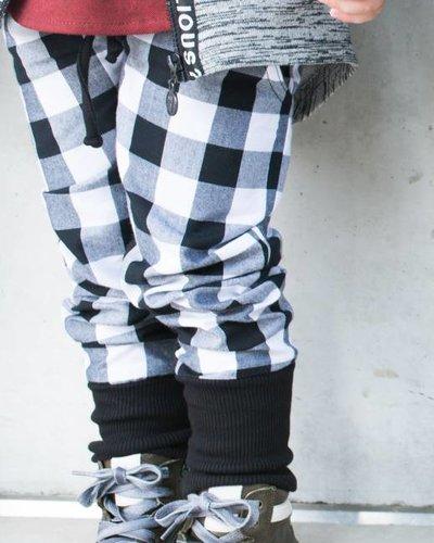 Pan Pantaloni White Tartan Skinnies