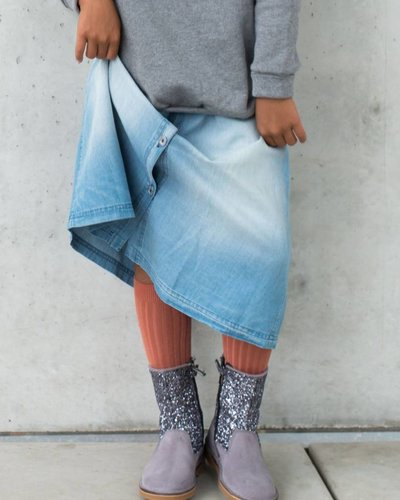 Kids On The Moon Denim Skirt