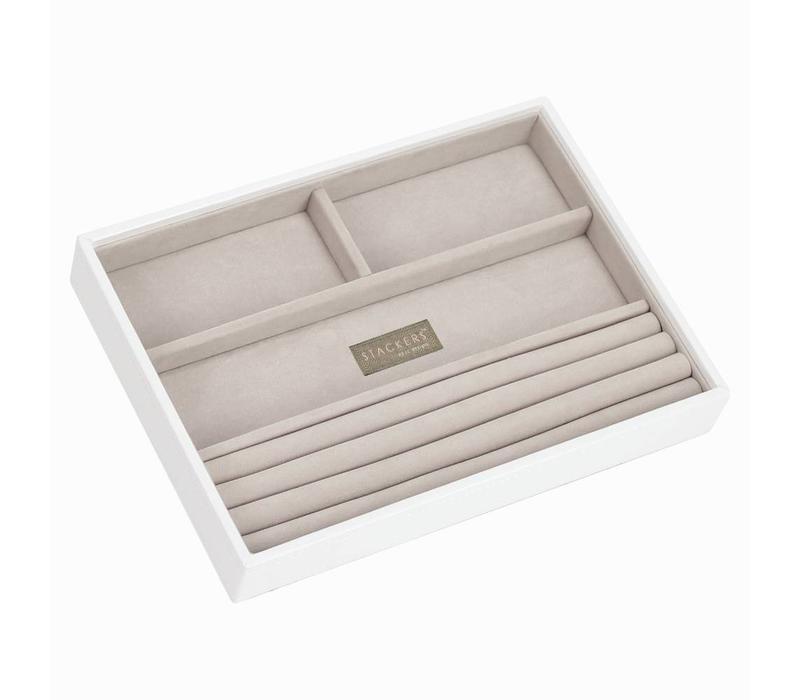 Classic 4-Section Box | White & Stone