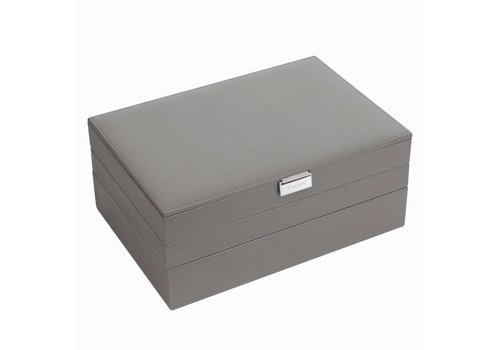 STACKERS Supersize Juwelenoos 3-Set | Mink & Grey Velvet
