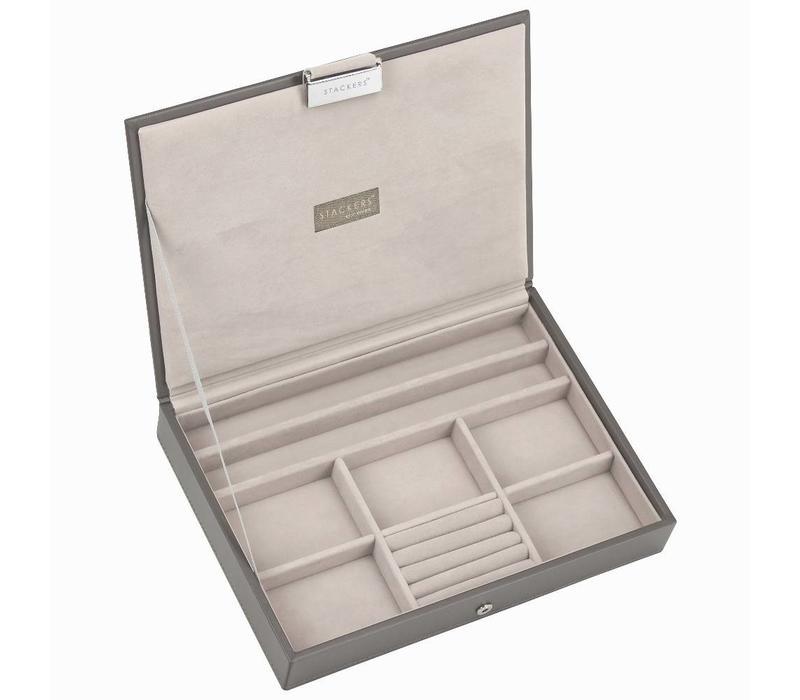 Box Classic 3-Set Juwelendoos in Mink & Grey Velvet