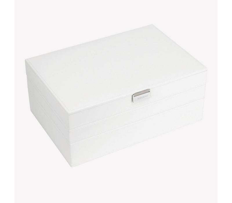 Supersize 3-Set Juwelen Sieraden Doos   White & Stone
