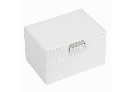 STACKERS Mini 2-Set | White & Grey Velvet