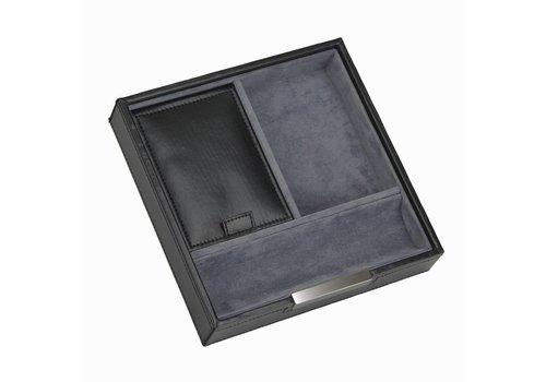 STACKERS Lidded Valet in Black & Grey