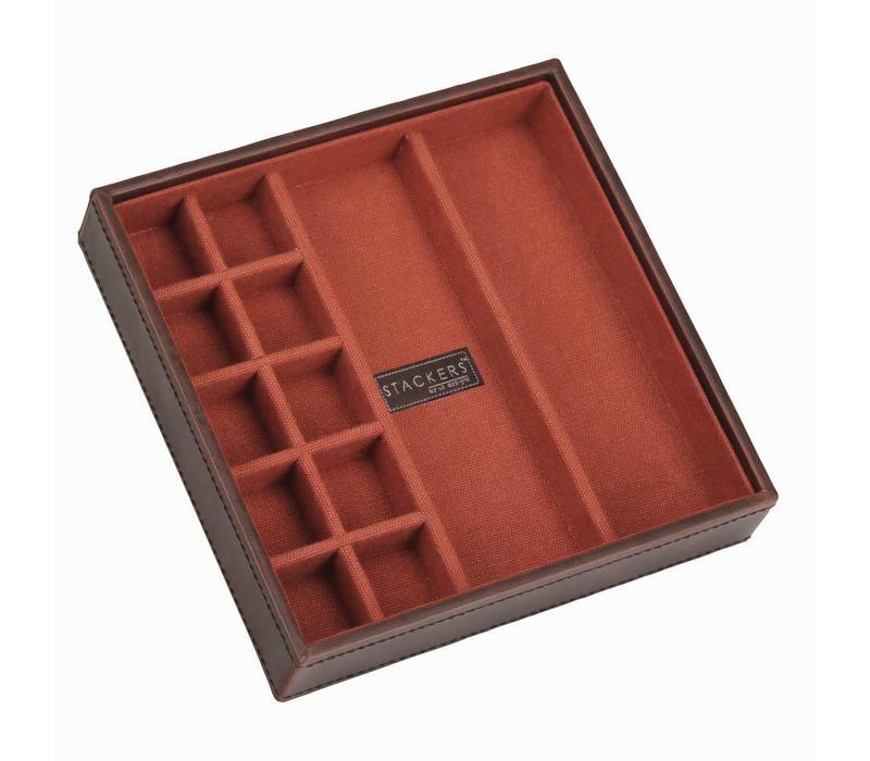 Cufflink Stacker in Brown & Orange