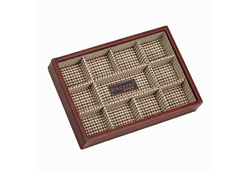 STACKERS Box Mini 11-Section Tan & Check