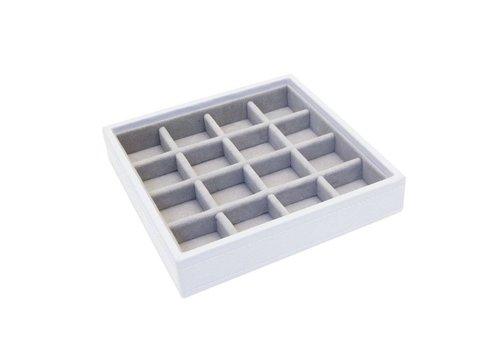STACKERS Charm 16-Box | White & Grey Velvet