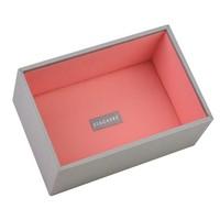 Box Mini 2-Set in Dove Grey & Coral