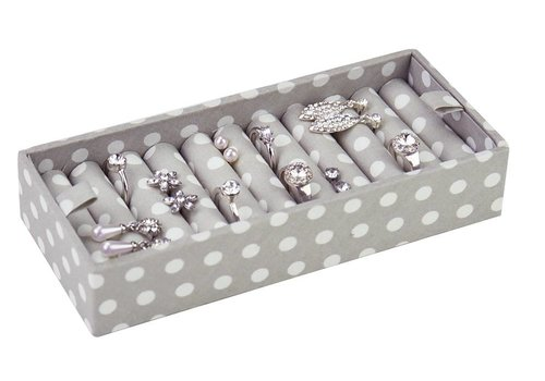 STACKERS Ring Box | Grey Polka