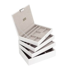 STACKERS Box Classic 4-Set Juwelendoos - White