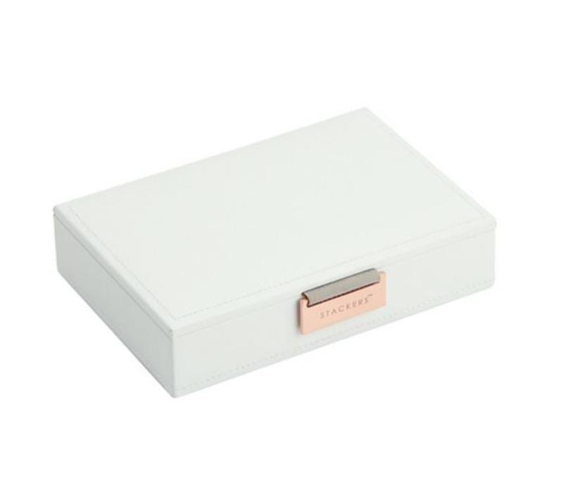 Mini Top Box   White & Stone + Rose Gold