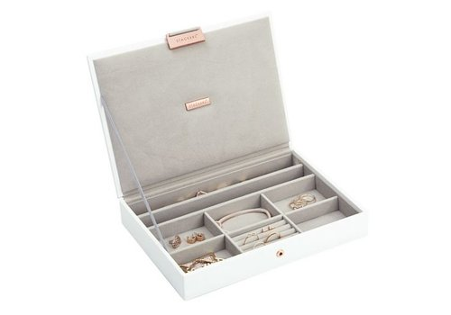 STACKERS Box Classic Top Limited Edition - White + Rose Gold