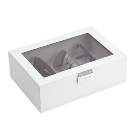 STACKERS Classic Eyewear-Box | White & Grey Velvet