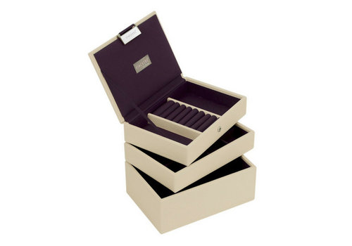 STACKERS Box Mini 3-Set Juwelendoos - Cream