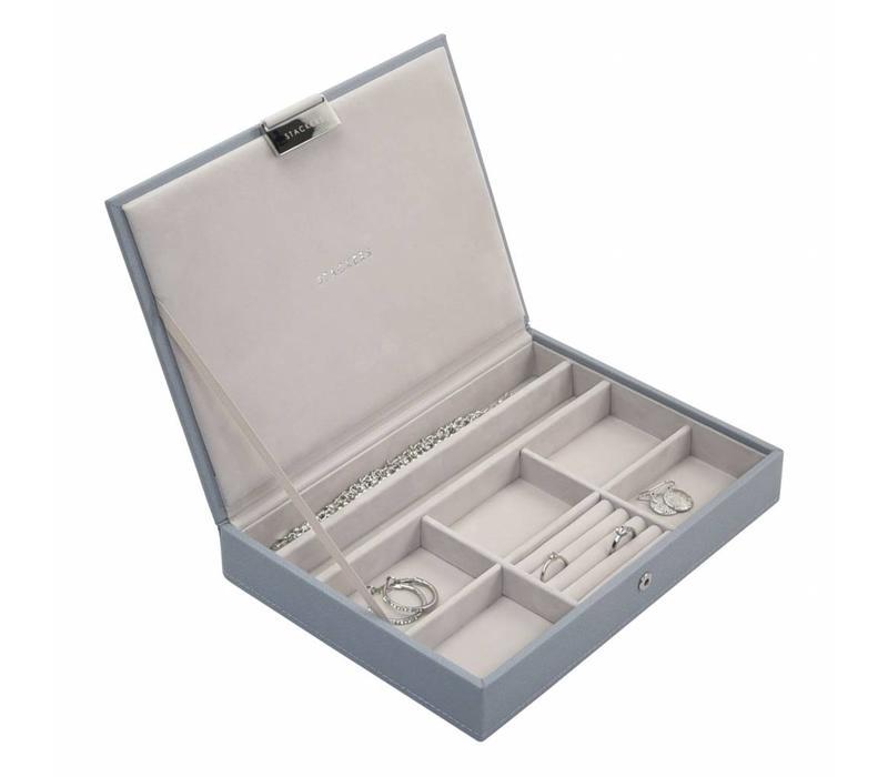 Classic Top-Box | Dusky Blue & Grey
