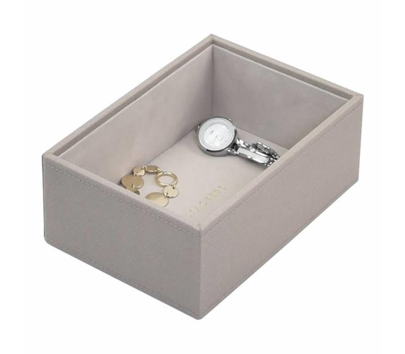 Mini 1-Section Box | Taupe & Grey