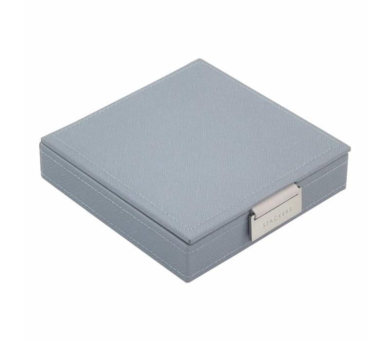Charm Top-Box | Dusky Blue & Grey