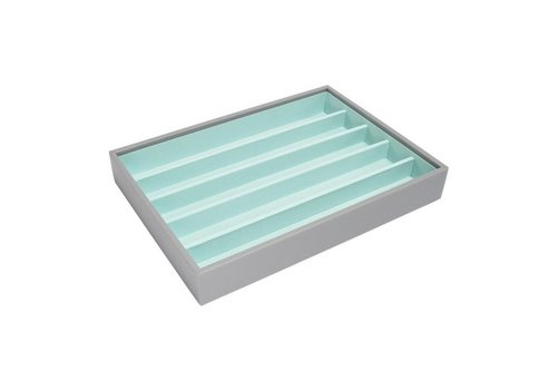 STACKERS Classic 5-Section Box | Grey & Mint