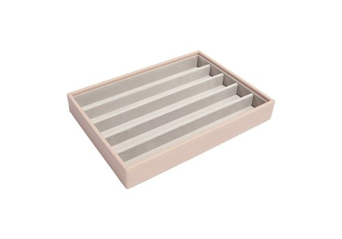 STACKERS Classic 5-Section Box | Blush & Grey
