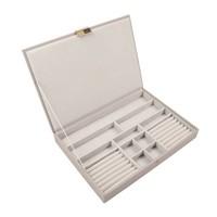 Supersize 3-Set Juwelendoos in Taupe & Grey