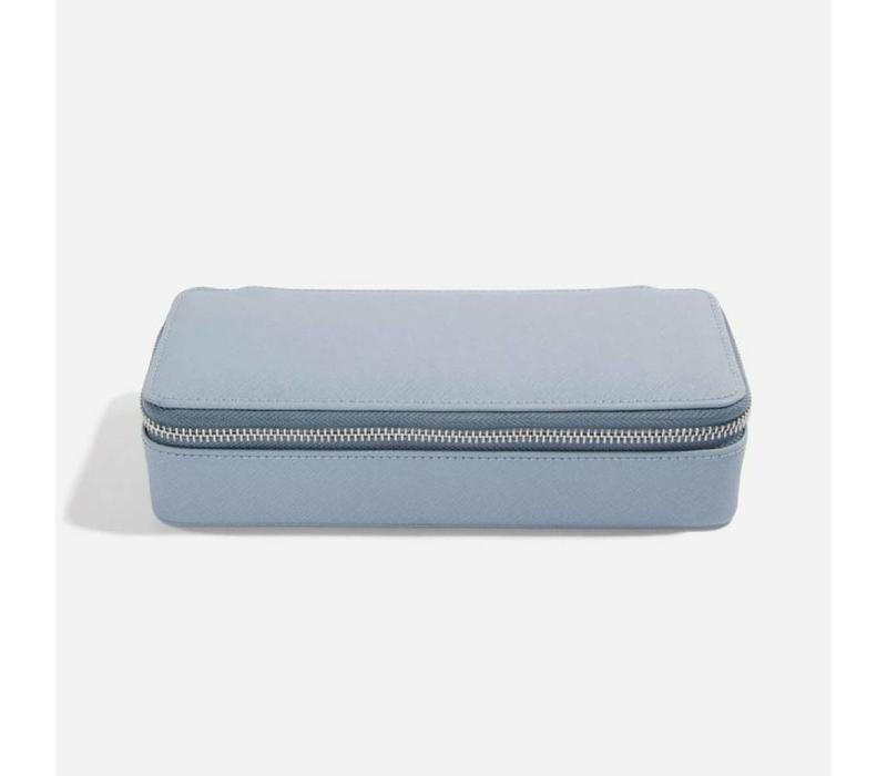 "Supersize ""Etui Travel Box"" Set in Dusky Blue & Grey"