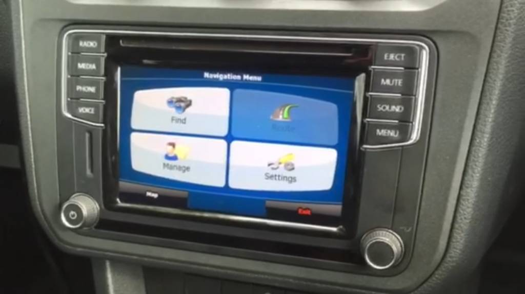 Composition Media NAV-GPS upgrade VW Transporter/Caddy 2016-2017-2018