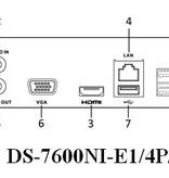 Hikvision NVR recorder met 4 ipcamera aansluitingen POE 25Mbps/80Mbps en APP