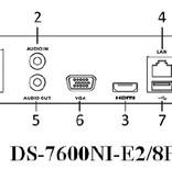 Hikvision NVR opname recorder 8 IP camera aansluitingen POE 50Mbps/100Mbps en APP