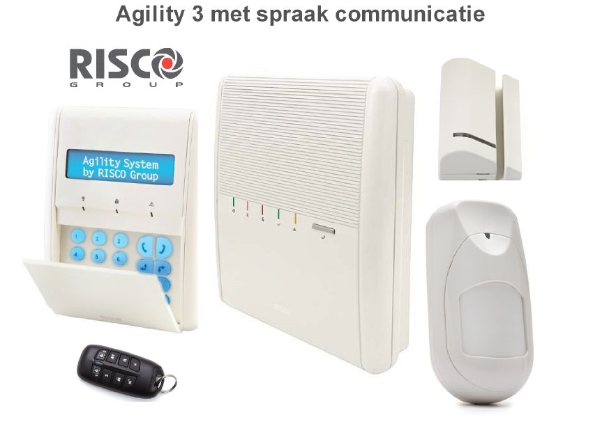 Risco agility 3 alarmsysteem basis kit draadloos met for Sirene exterieure risco