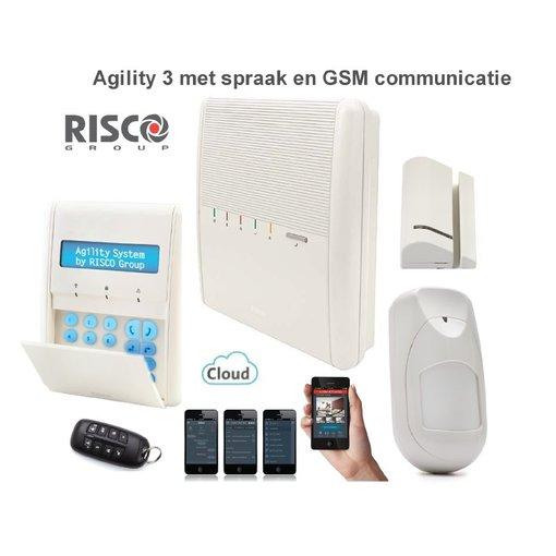 Risco agility 3 alarmsysteem draadloos en gratis app voor for Sirene exterieure risco