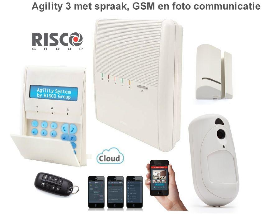 risco agility 3 alarmsysteem basis kit draadloos met spraak gsm communicatie met foto. Black Bedroom Furniture Sets. Home Design Ideas