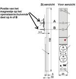 Jablotron 100 draadloos inbouw magneetcontact.