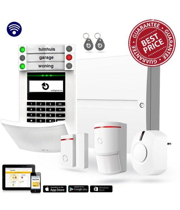 Jablotron 100 draadloos alarmsysteem basis kit met GSM en LAN inclusief vakkundige montage.