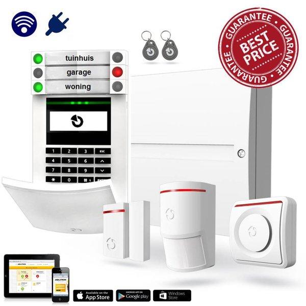 100 Alarmsysteem kit hybride met GSM en LAN inclusief montage.