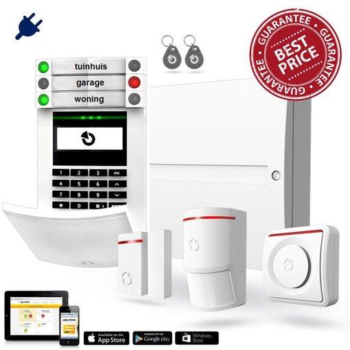 Jablotron 100 alarmsysteem basis kit BUS bekabeld GSM en LAN inclusief montage.