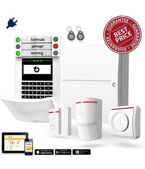 Jablotron 100 alarmsysteem basis kit BUS bekabeld GSM en LAN inclusief vakkundige montage door veilighuis.