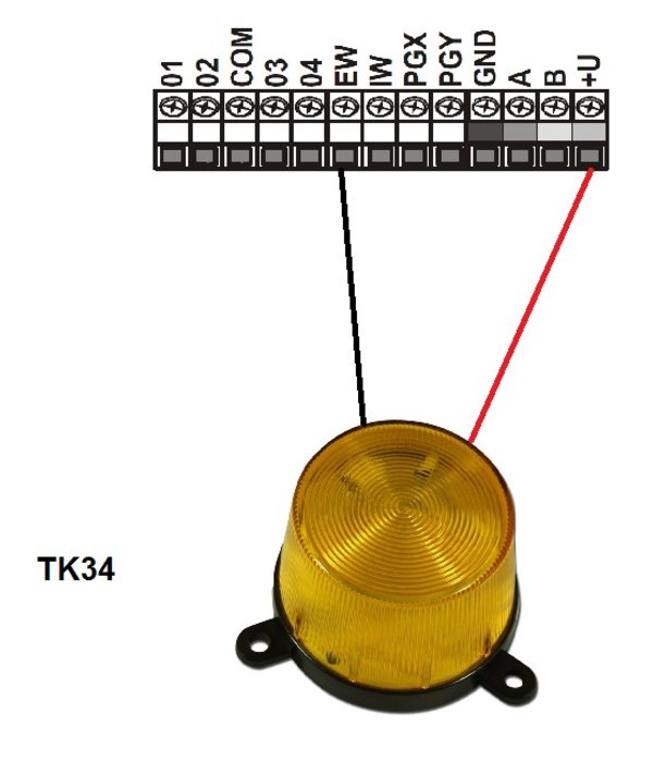 Jablotron Oasis en Profi bekabelde oranje flitslamp voor buiten of binnen gebruik