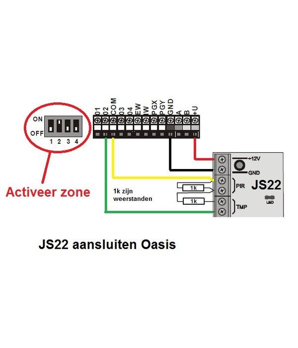 Jablotron Oasis bekabelde bewegingsdetector