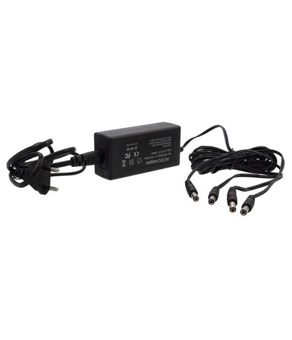Hikvision Camera voeding adapter 12V 5Ah 4 aansluitingen.