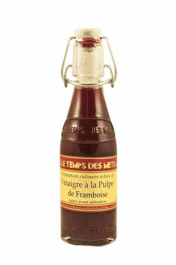 Le Temps des Mets Franse wijnazijn met pulp van frambozen 20 cl