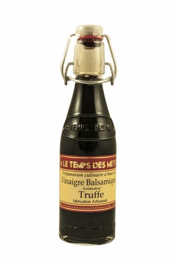 Le Temps des Mets Balsamico wijnazijn met truffel, vinaigre balsamique arômatisé truffe, à 20 cl