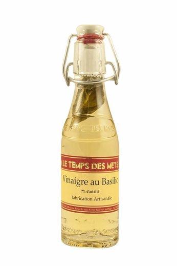 Le Temps des Mets Franse witte wijnazijn met basilicum 20 cl